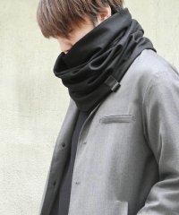PATRICK STEPHAN [パトリックステファン] Jersey scarf 'fuji' 17aw<スヌードマフラー(ネックウォーマー)> ブラック