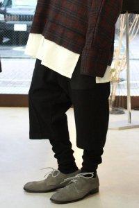 Wizzard [ウィザード] LAYERED PANTS<カシミヤウール レイヤードパンツ> ブラック