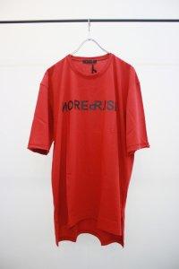 Wizzard [ウィザード] プリントTシャツ 'NOISE REPRISE' <MONOEYES (モノアイズ) 細美武士氏着用> レッド(限定カラー)