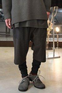 Wizzard [ウィザード] LAYERED PANTS<カシミヤウール レイヤードパンツ> ダスト(チャコールグレー)