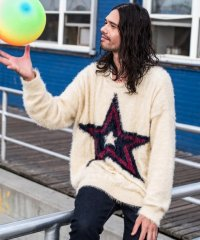 【2018SS先行予約】 glamb [グラム] GB0118 / KNT03 : Star knit<スターニット> 2色展開