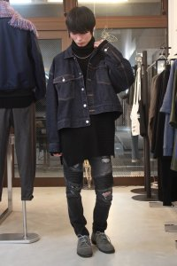 <img class='new_mark_img1' src='//img.shop-pro.jp/img/new/icons2.gif' style='border:none;display:inline;margin:0px;padding:0px;width:auto;' />JieDa [ジエダ] WIDE SHORT DENIM JACKET<ワイドショートデニムジャケット> インディゴ