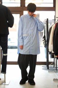 JieDa [ジエダ] LONG SHIRT <ロングシャツ> ブルー(サックス)