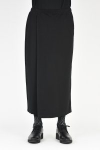 LAD MUSICIAN [ラッドミュージシャン] T-CLOTH WIDE CROPPED WRAP PANTS <Tクロス ワイドクロップドラップパンツ> 2218-651 ブラック