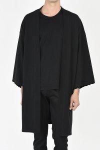 LAD MUSICIAN [ラッドミュージシャン] T-CLOTH KIMONO MEDIUM COAT <Tクロス キモノミディアムコート> 2218-603 ブラック