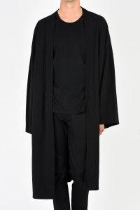 LAD MUSICIAN [ラッドミュージシャン] T-CLOTH KIMONO LONG COAT <Tクロス キモノロングコート> 2218-602 ブラック