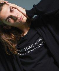 Wizzard [ウィザード] PRINT CUTSEW 'MAKE MORE NOISE'<プリントカットソー ビッグTシャツ> ブラック
