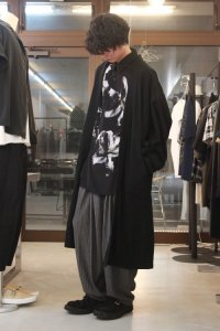glamb [グラム] GB0118 / MN14 : Loose pants<プリーツワイドテーパードパンツ> グレー