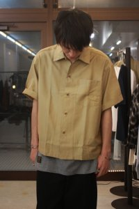 <img class='new_mark_img1' src='//img.shop-pro.jp/img/new/icons16.gif' style='border:none;display:inline;margin:0px;padding:0px;width:auto;' />【SALE 30%OFF】 N.HOOLYWOOD [エヌハリウッド] COLLECTION LINE SHORT SLEEVE SHIRT <オープンカラーワイドシャツ> ベージュ