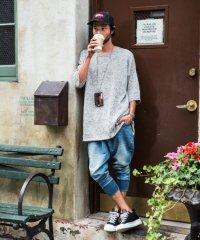 glamb [グラム] GB0118 / P14 : Dion cropped knit denim<ディオンクロップドニットデニムパンツ> ライトインディゴ