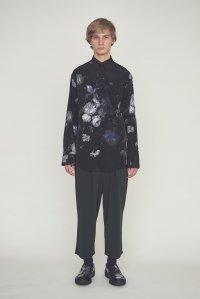 LAD MUSICIAN [ラッドミュージシャン] T-CLOTH 2TUCK WIDE CROPPED PANTS <2タックワイドクロップドパンツ> 2118-653 ブラック
