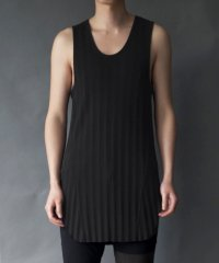 Wizzard [ウィザード] DROP NEEDLE TANK TOP<ドロップニードル ロングタンクトップ> ブラック
