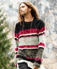 【2018AW 先行予約】 glamb [グラム] GB0318 / KNT05 : Kaylee border knit <ケイリーボーダーニット> 3色展開