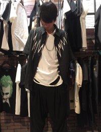 glamb [グラム] GB0218 / MN05 : Gauze SH <ノイズワイドシャツ> ブラック