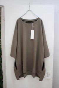 my beautiful landlet [マイビューティフルランドレット] mini fleecy fabric sweat <ミニ裏毛ビッグスウェット> グレーベージュ