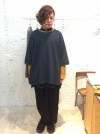 my beautiful landlet [マイビューティフルランドレット] mini fleecy fabric sweat <ミニ裏毛ビッグスウェット> ブルーグリーン