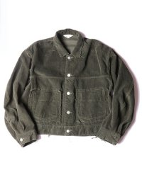 JieDa [ジエダ] CORDUROY SHORT JACKET <コーデュロイショートジャケット(2018AW)> カーキ