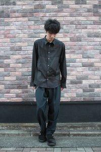 ANREALAGE [アンリアレイジ] PANEL PATCHWORK SHIRT <パネルパッチワークシャツ> ブラック