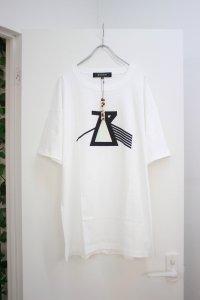 ANREALAGE [アンリアレイジ] PRISM AZ LOGO TEE SHIRTS <プリズムAZロゴTシャツ> ホワイト