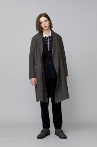 <img class='new_mark_img1' src='//img.shop-pro.jp/img/new/icons2.gif' style='border:none;display:inline;margin:0px;padding:0px;width:auto;' />TROVE [トローヴ] MID SUMMER COAT <ストールカラーボアコート> 2018AW 53COA06 ブラウンネイビー