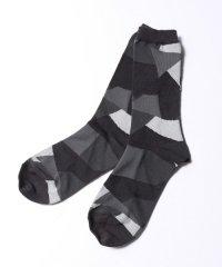 ANREALAGE [アンリアレイジ] patchwork socks <パッチワークソックス> グレーMIX