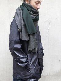 PATRICK STEPHAN [パトリックステファン] Jersey scarf 'wrap' 18aw<ビッグストール(ビッグマフラー)> グリーンMIX