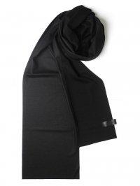 PATRICK STEPHAN [パトリックステファン] Jersey scarf 'wrap' 18aw<ロングストール(ロングマフラー)> ブラックMIX