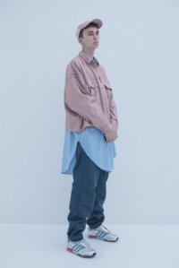 JieDa [ジエダ] GABARDINE MILITARY SHIRT BLOUSON <ギャバジンミリタリーシャツブルゾン(2019SS)> スモークピンク