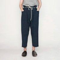 my beautiful landlet [マイビューティフルランドレット] wide tapered chino pants <ワイドテーパードチノパンツ> ネイビー