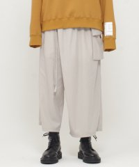 Wizzard [ウィザード] WIDE CROPPED WRAP PANTS <ワイドクロップドラップパンツ> ライトグレー