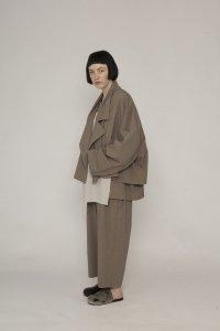my beautiful landlet [マイビューティフルランドレット] tropical cloth tapered pants <トロピカルクロステーパードパンツ> ベージュ