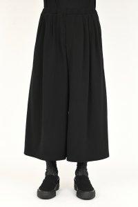 LAD MUSICIAN [ラッドミュージシャン] T-CLOTH 3TUCK WIDE FLARE PANTS <コットンクロス 3タックワイドフレアパンツ> ブラック