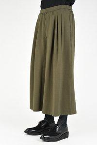 LAD MUSICIAN [ラッドミュージシャン] T-CLOTH 3TUCK WIDE FLARE PANTS <コットンクロス 3タックワイドフレアパンツ> カーキ