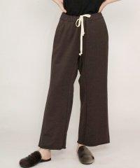 my beautiful landlet [マイビューティフルランドレット] supima cotton wide easy pants <スーピマコットン イージーパンツ> ブラウン