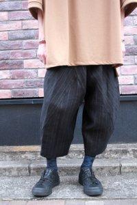 my beautiful landlet [マイビューティフルランドレット] stripe linen wide easy pants<ワイドイージーパンツ> ブラックストライプ