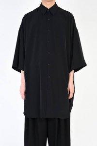 LAD MUSICIAN [ラッドミュージシャン] SUPER BIG SHORT SLEEVE SHIRT <スーパービッグショートスリーブシャツ> ブラック