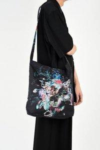 LAD MUSICIAN [ラッドミュージシャン] FLOWER BAG <フラワーバッグ> 2319-931 ビビッド×ブラック