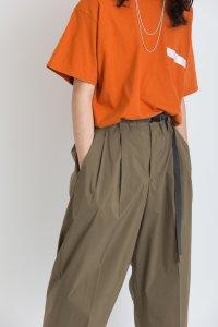 VICTIM [ヴィクティム] VTM-19-T-031 / SS BIG TEE SHIRT <2WAY ビッグTシャツ> オレンジ×ホワイト