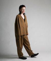my beautiful landlet [マイビューティフルランドレット] wool twill wide pants <ウールツイルワイドパンツ> ベージュ
