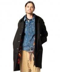 【ラスト1点】glamb [グラム] Dorber soutien collar coat <3WAYステンカラーコート> ブラック×フラワー