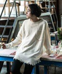 【2020SS予約】glamb [グラム] GB0120 / KNT13 : Damaged big knit<ダメージビッグニット> 2色展開