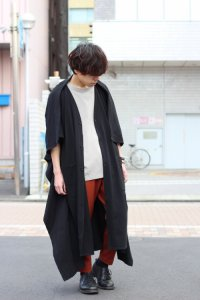 <img class='new_mark_img1' src='https://img.shop-pro.jp/img/new/icons2.gif' style='border:none;display:inline;margin:0px;padding:0px;width:auto;' />【ラスト1点】Ground Y Yohji Yamamoto [グラウンドワイ ヨウジヤマモト] cotton Jersey GY Cardigan GA-T12-040-2S20 ブラック