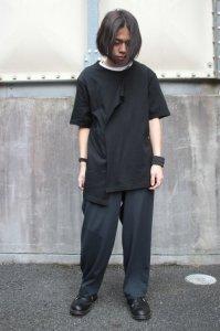 <img class='new_mark_img1' src='https://img.shop-pro.jp/img/new/icons2.gif' style='border:none;display:inline;margin:0px;padding:0px;width:auto;' />Ground Y Yohji Yamamoto [グラウンドワイ ヨウジヤマモト]  Layered Cutsew <レイヤードカットソー> GA-T04-046 ブラック