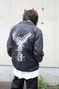 <img class='new_mark_img1' src='https://img.shop-pro.jp/img/new/icons2.gif' style='border:none;display:inline;margin:0px;padding:0px;width:auto;' />Ground Y Yohji Yamamoto [グラウンドワイ ヨウジヤマモト] Y Logo Coach Jacket <Yロゴコーチジャケット> GR-J50-950 ブラック