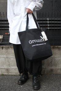 <img class='new_mark_img1' src='https://img.shop-pro.jp/img/new/icons2.gif' style='border:none;display:inline;margin:0px;padding:0px;width:auto;' />Ground Y Yohji Yamamoto [グラウンドワイ ヨウジヤマモト] Cotton Canvas Logo Tote Bag <トートバッグ> GA-I01-094 ブラック×ホワイト