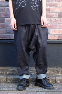 Ground Y [グラウンドワイ] Denim Depth Sarrouel Pants <デニムサルエルパンツ> 2021SS  GT-P07-009 ブルー(インディゴ)