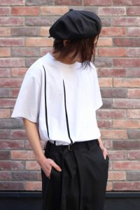 <img class='new_mark_img1' src='https://img.shop-pro.jp/img/new/icons24.gif' style='border:none;display:inline;margin:0px;padding:0px;width:auto;' />【FINAL SALE50%OFF】【ラスト1点】Ground Y [グラウンドワイ] Cotton Jersey Cutting Blade Cut Sew <Tシャツ> ホワイト×ブラック
