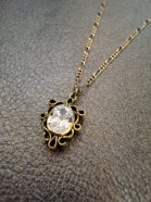 <img class='new_mark_img1' src='//img.shop-pro.jp/img/new/icons54.gif' style='border:none;display:inline;margin:0px;padding:0px;width:auto;' />Turturro / ray別注アンティークゴールドネックレス(ジルコニア) # GOLD