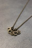 Atease / FIVE COIN NECKLACE # BRASS