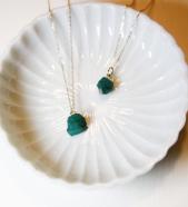 Garden of Eden / Gemstone Necklace (エメラルド)# SILVER